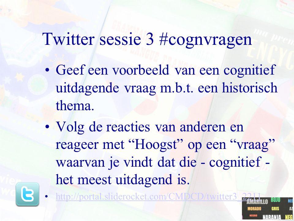Twitter sessie 3 #cognvragen