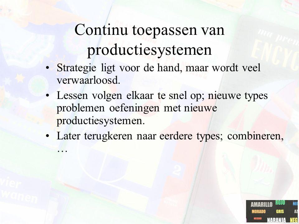 Continu toepassen van productiesystemen