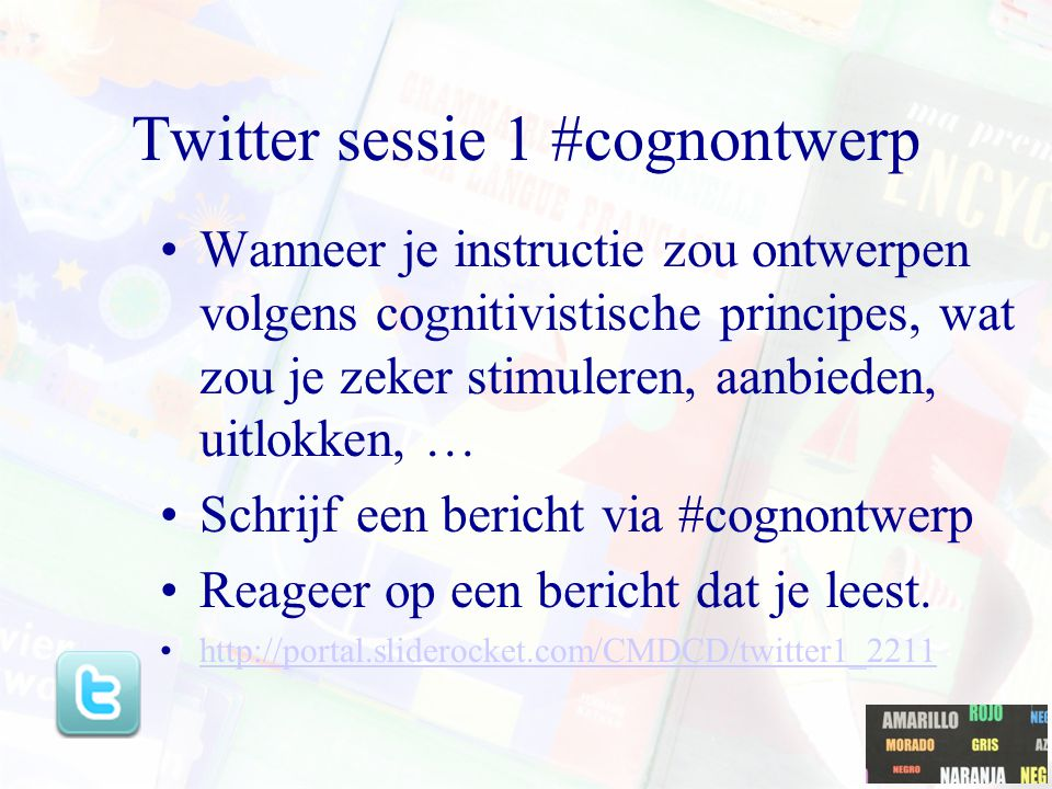 Twitter sessie 1 #cognontwerp