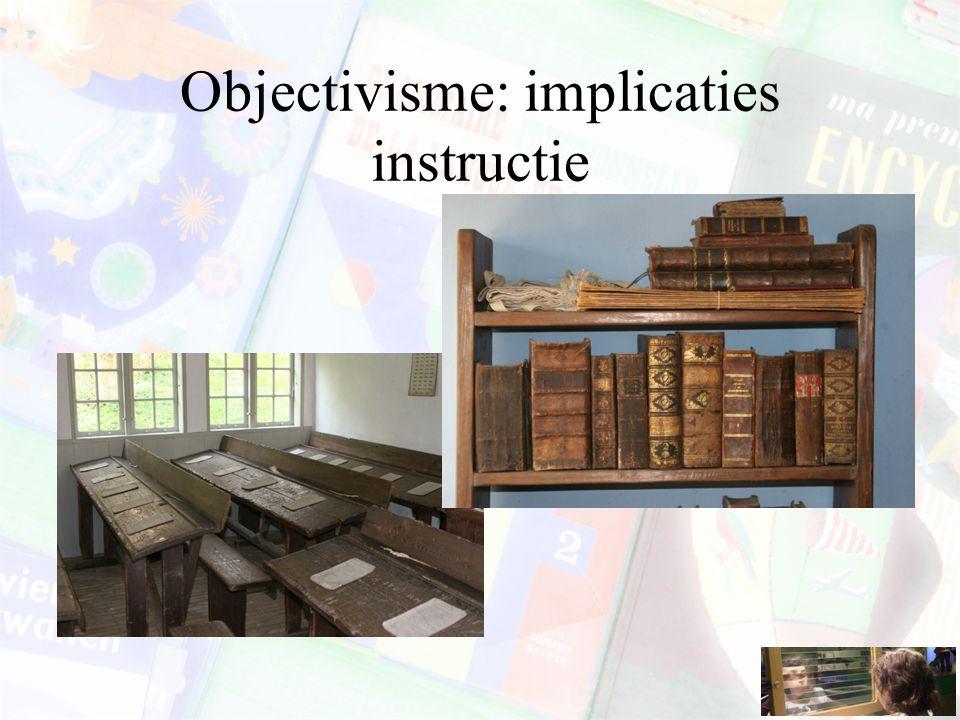Objectivisme: implicaties instructie
