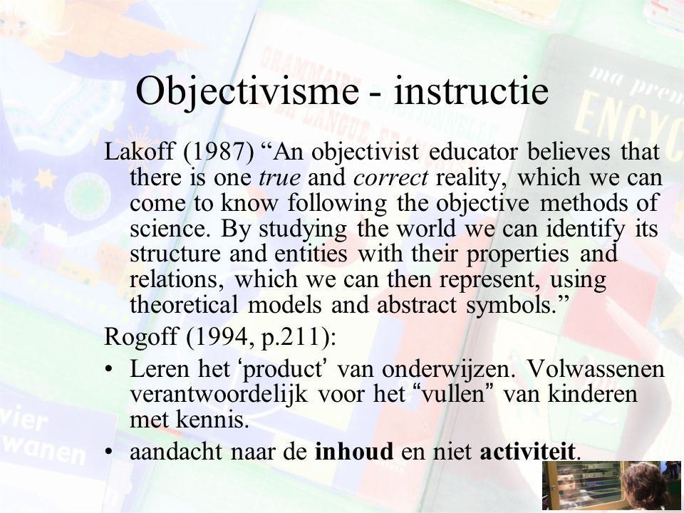 Objectivisme - instructie