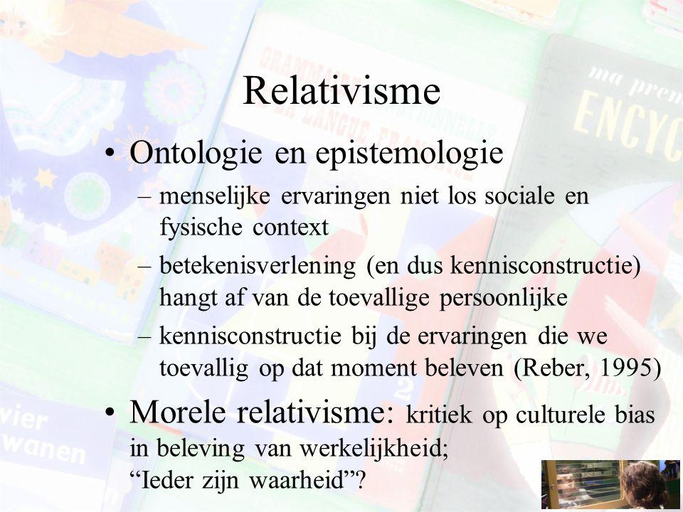 Relativisme Ontologie en epistemologie