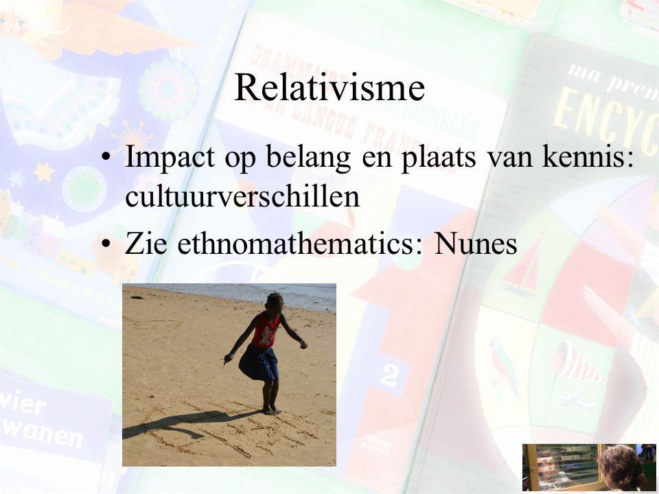Relativisme Impact op belang en plaats van kennis: cultuurverschillen