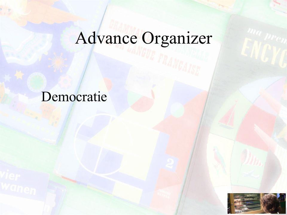 Advance Organizer Democratie