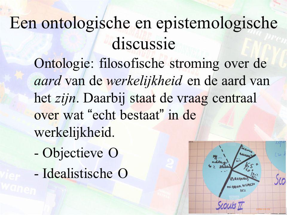 Een ontologische en epistemologische discussie