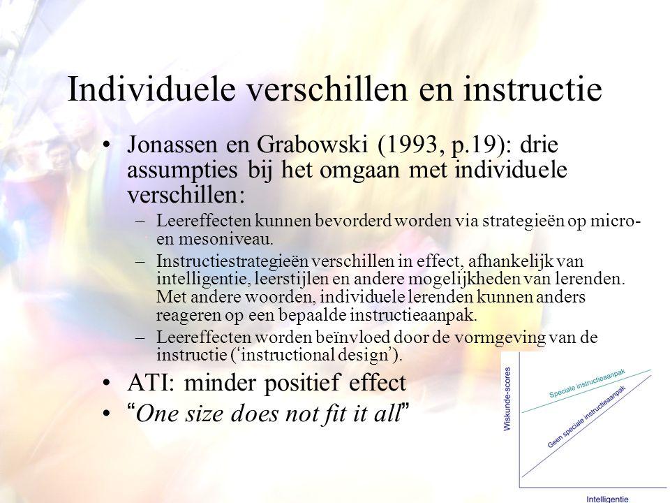 Individuele verschillen en instructie