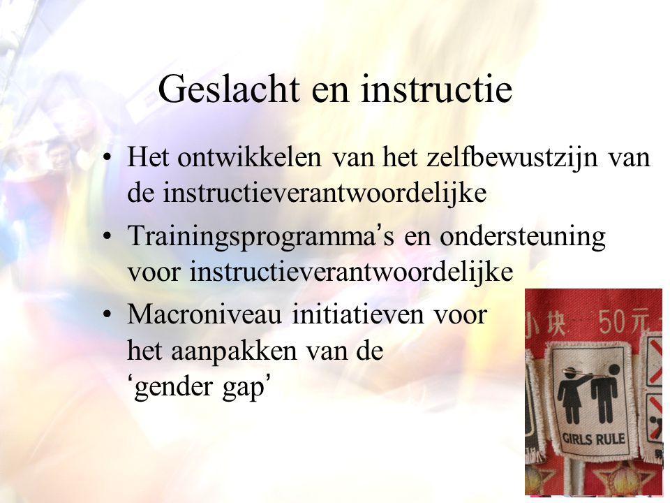 Geslacht en instructie