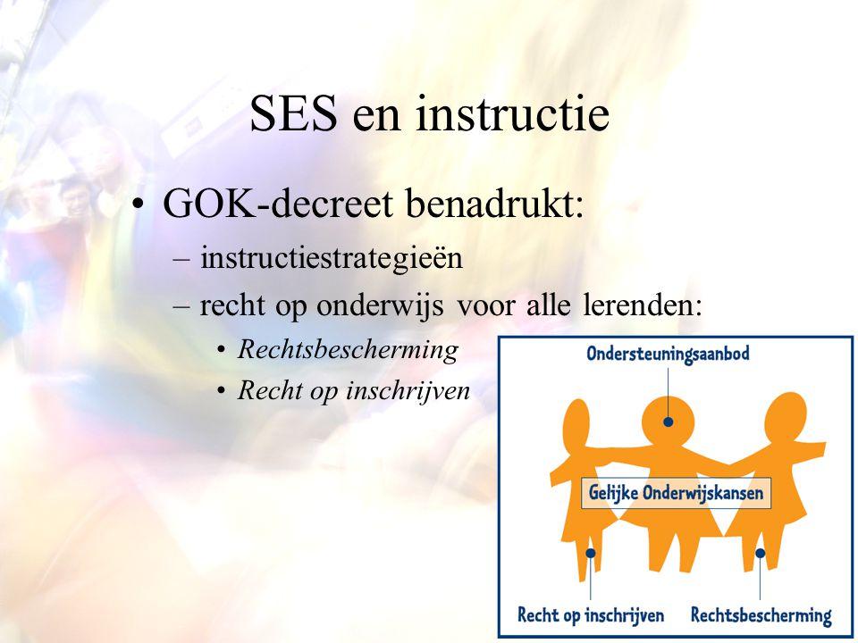 SES en instructie GOK-decreet benadrukt: instructiestrategieën
