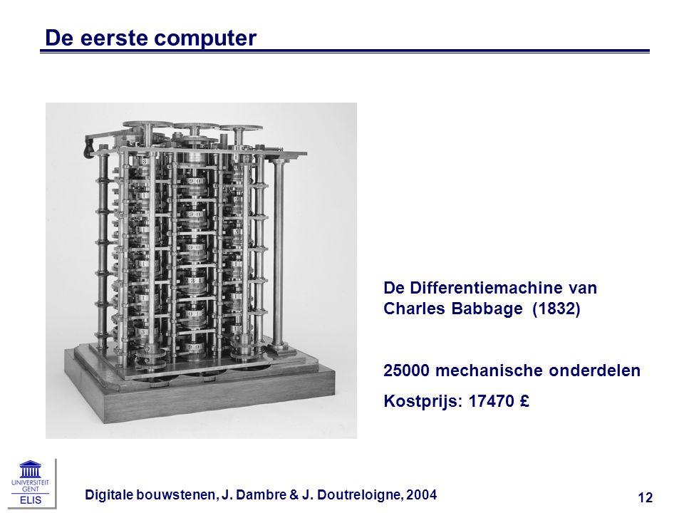 De eerste computer De Differentiemachine van Charles Babbage (1832)