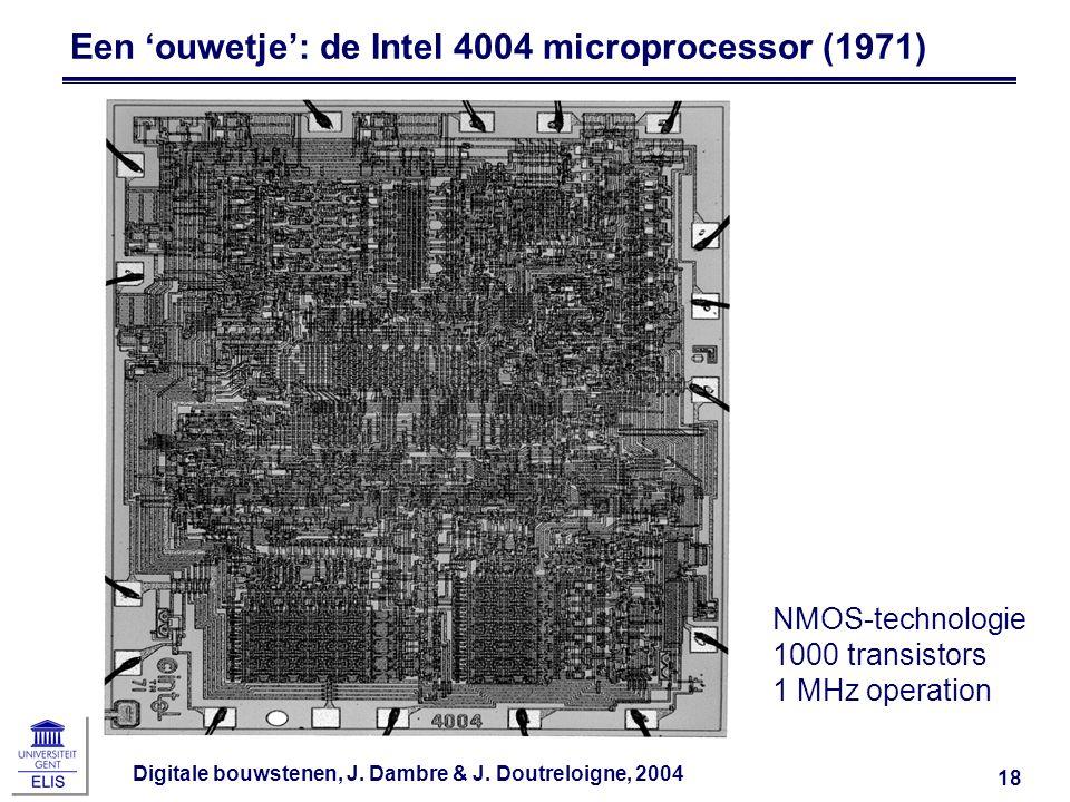 Een 'ouwetje': de Intel 4004 microprocessor (1971)