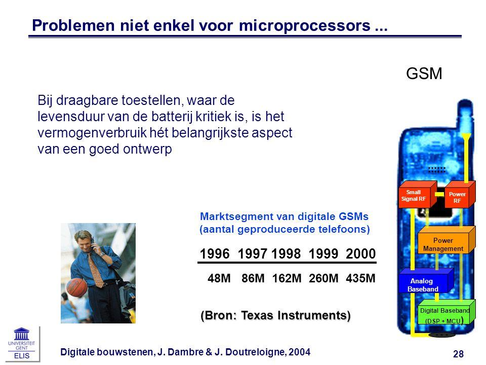 Problemen niet enkel voor microprocessors ...