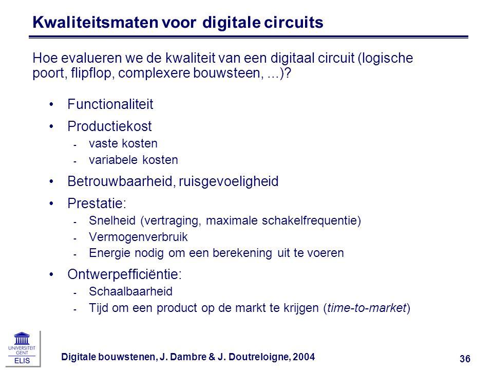 Kwaliteitsmaten voor digitale circuits
