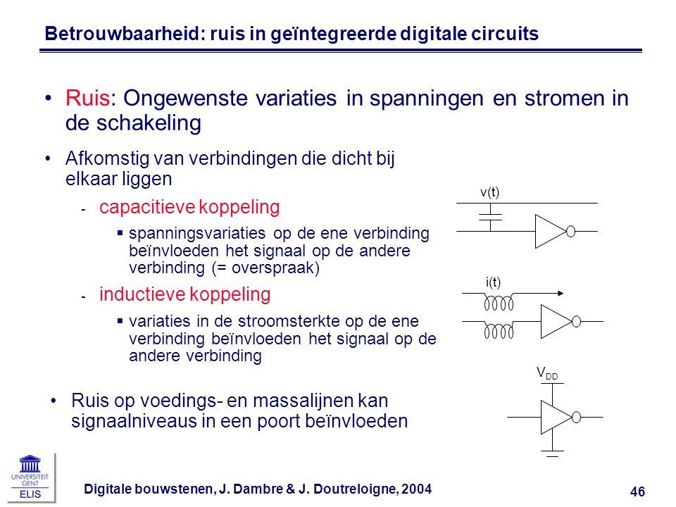 Betrouwbaarheid: ruis in geïntegreerde digitale circuits