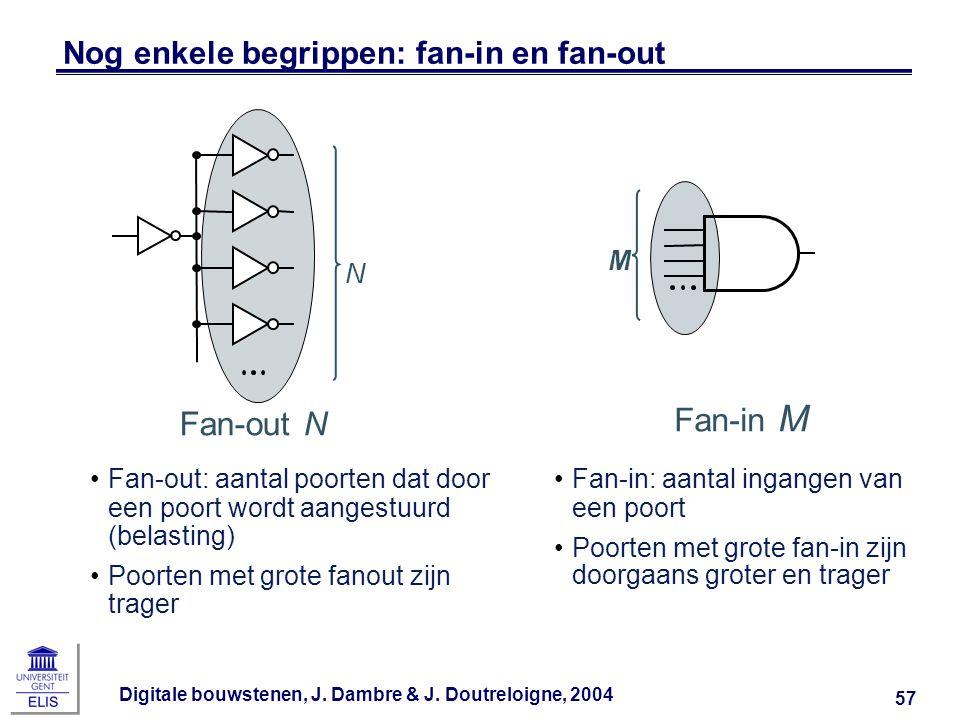 Nog enkele begrippen: fan-in en fan-out