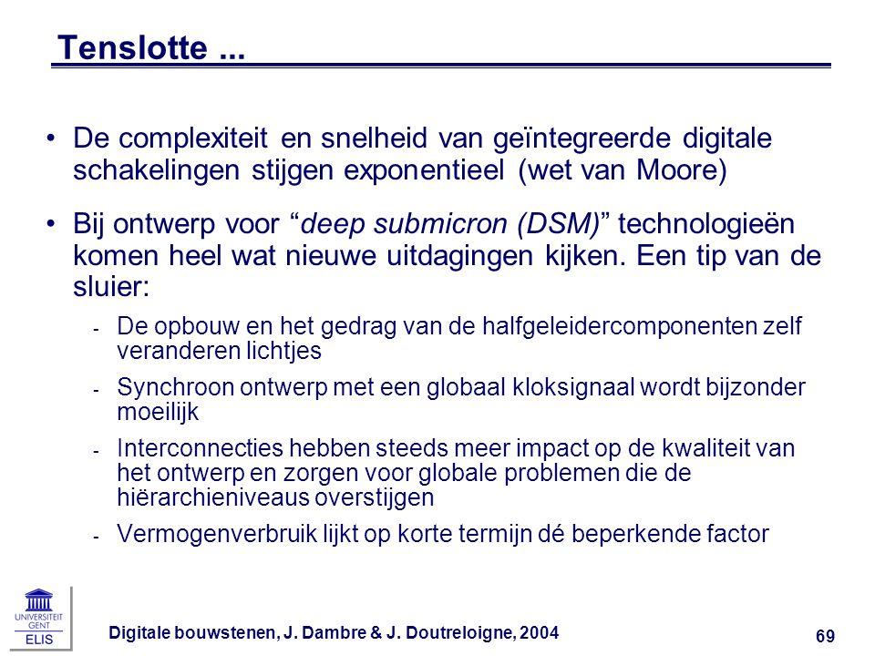 Tenslotte ... De complexiteit en snelheid van geïntegreerde digitale schakelingen stijgen exponentieel (wet van Moore)
