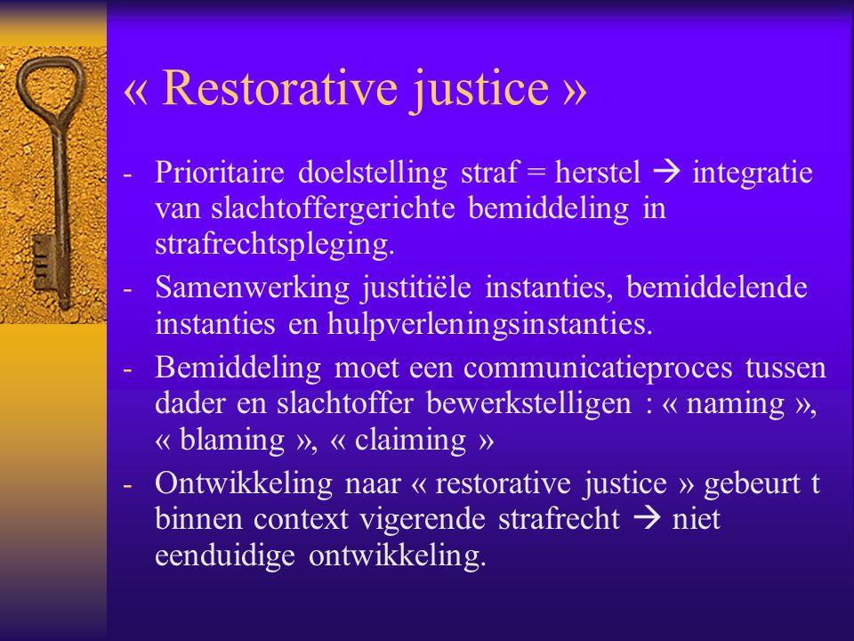 « Restorative justice »