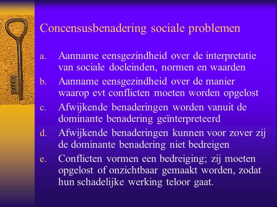 Concensusbenadering sociale problemen