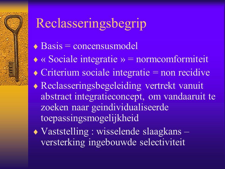 Reclasseringsbegrip Basis = concensusmodel