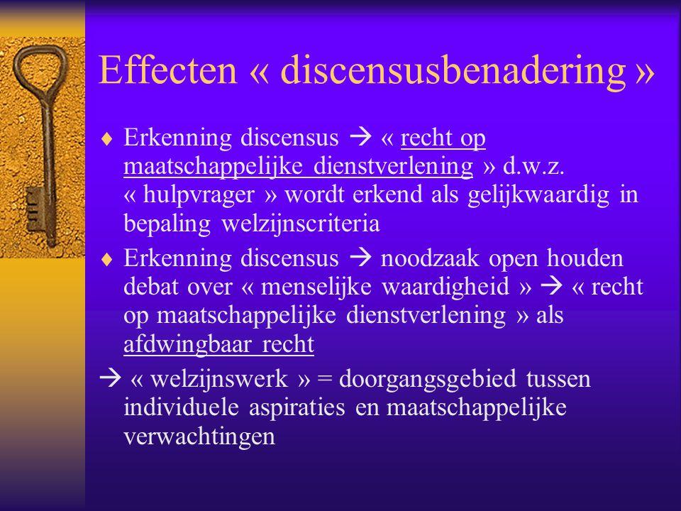 Effecten « discensusbenadering »