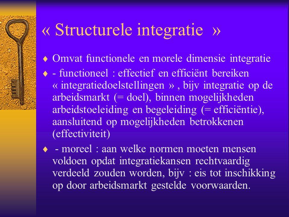 « Structurele integratie »