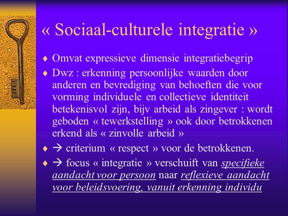 « Sociaal-culturele integratie »