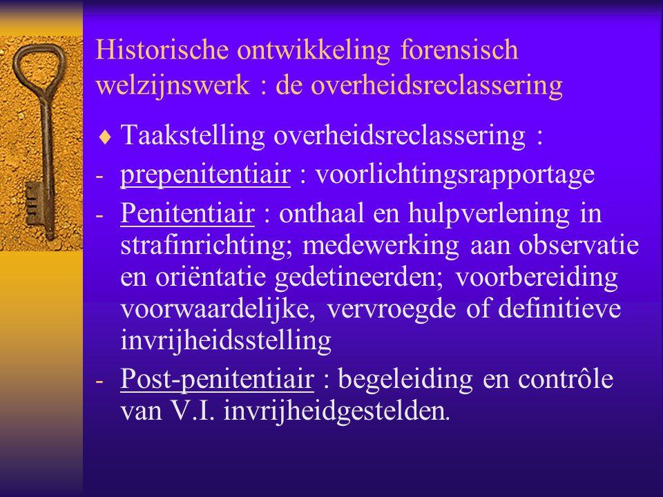 Historische ontwikkeling forensisch welzijnswerk : de overheidsreclassering