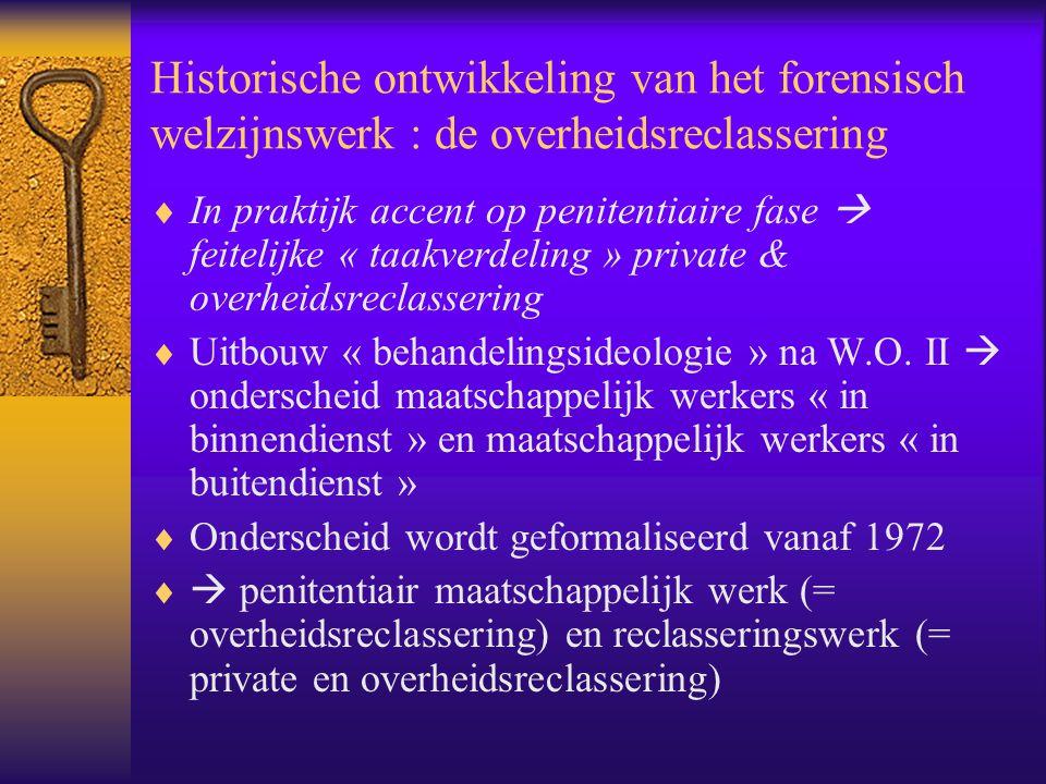 Historische ontwikkeling van het forensisch welzijnswerk : de overheidsreclassering