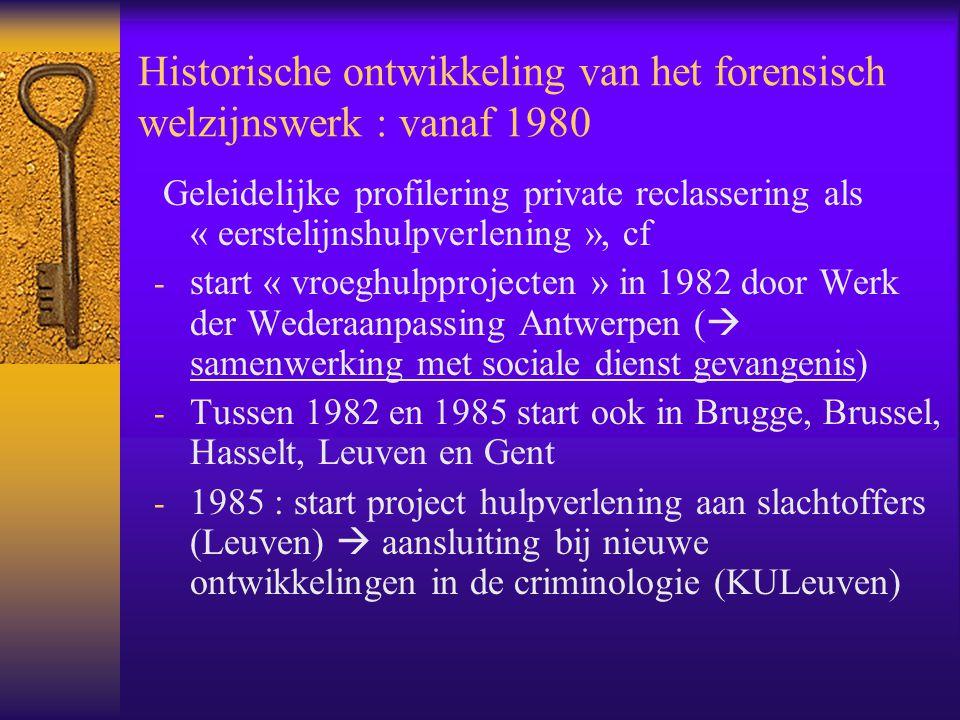 Historische ontwikkeling van het forensisch welzijnswerk : vanaf 1980