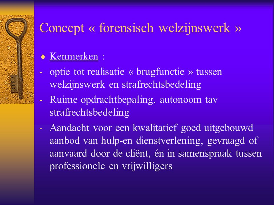 Concept « forensisch welzijnswerk »