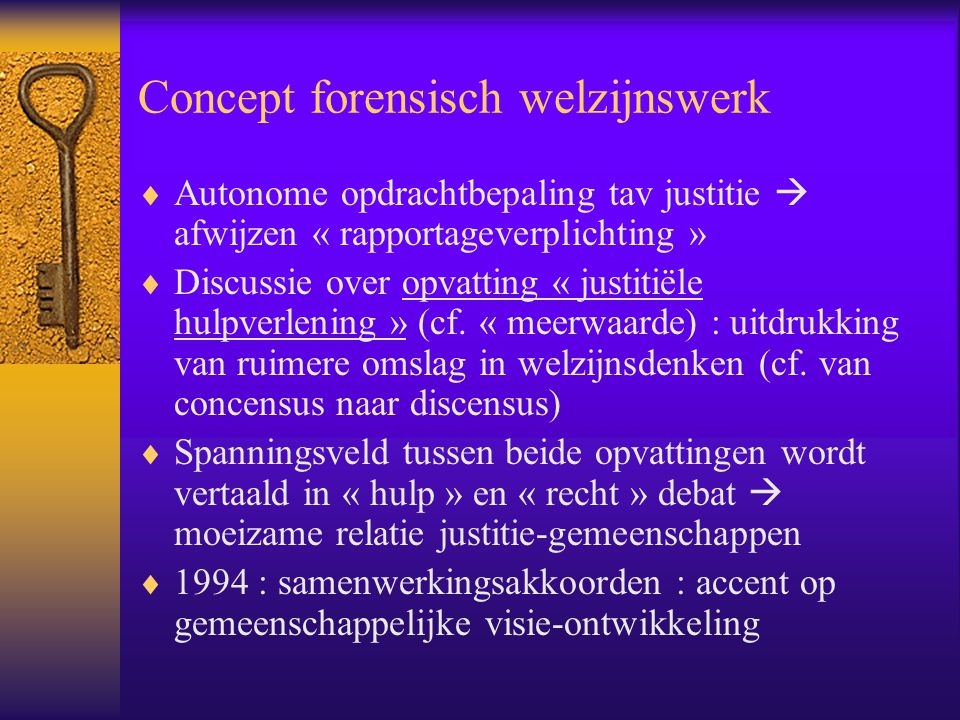 Concept forensisch welzijnswerk