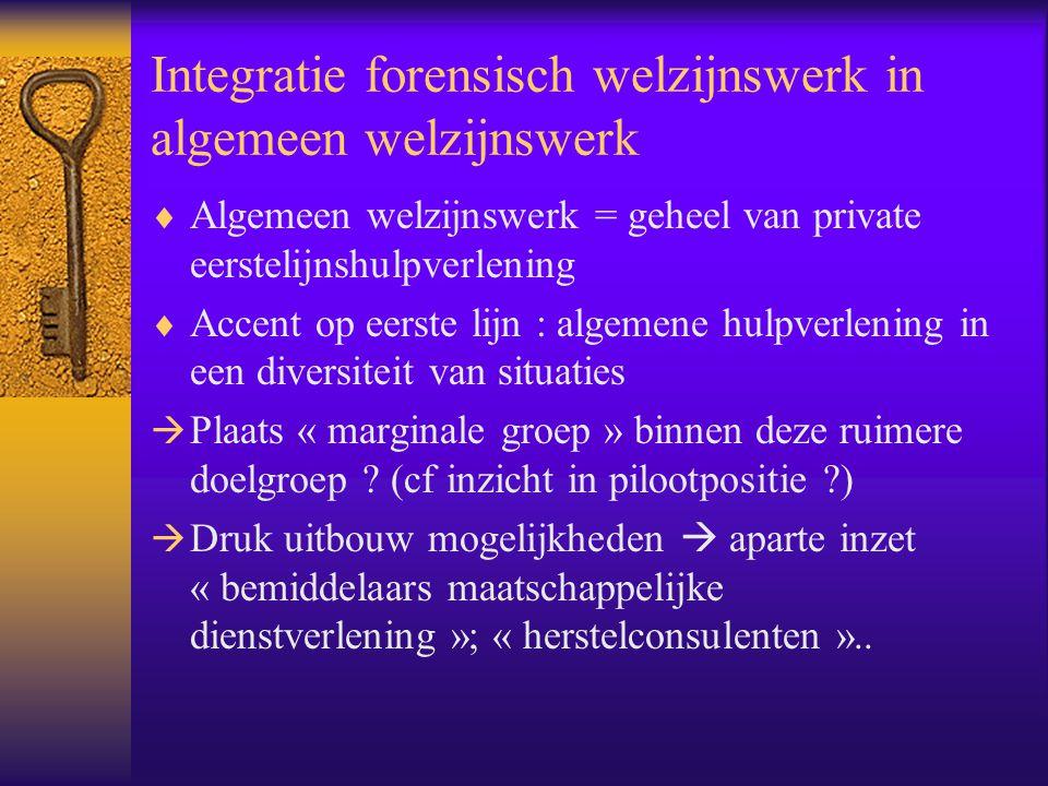 Integratie forensisch welzijnswerk in algemeen welzijnswerk