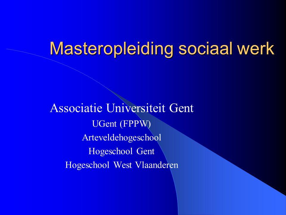 Masteropleiding sociaal werk