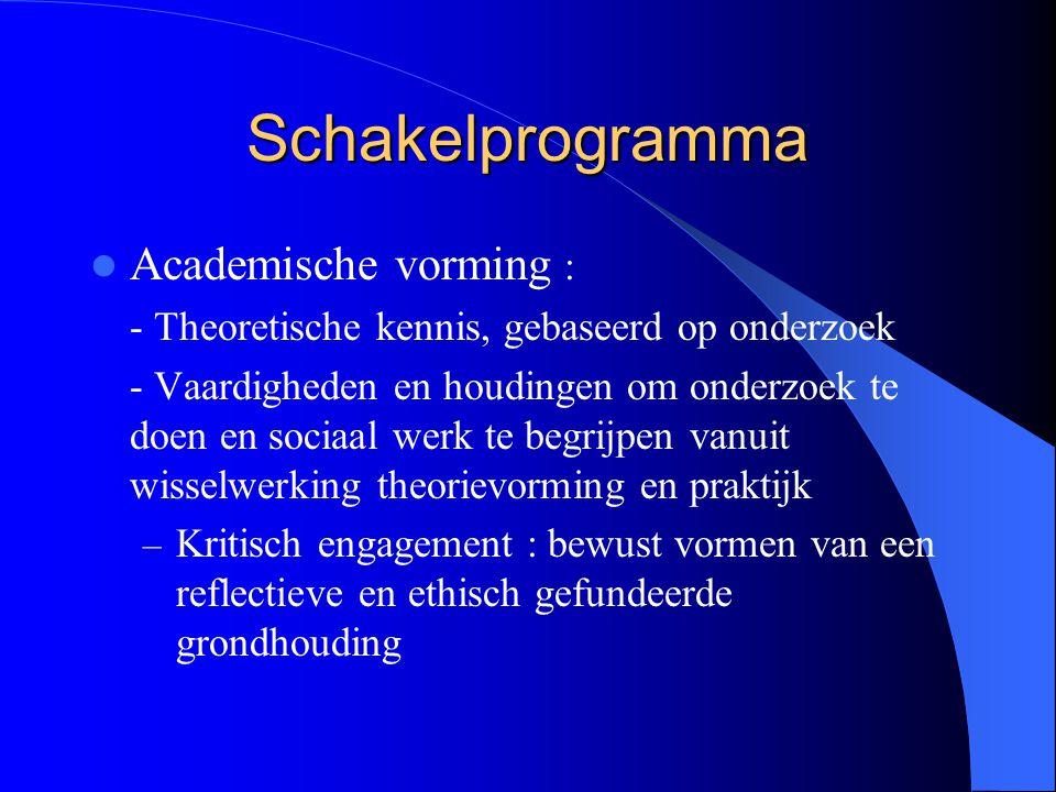 Schakelprogramma Academische vorming :