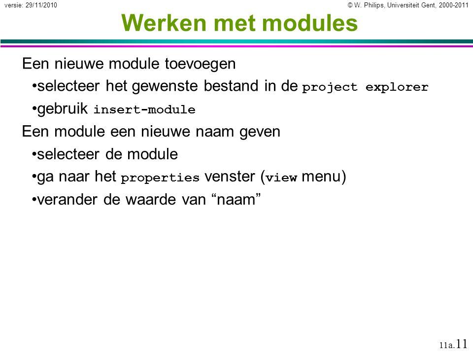 Werken met modules Een nieuwe module toevoegen
