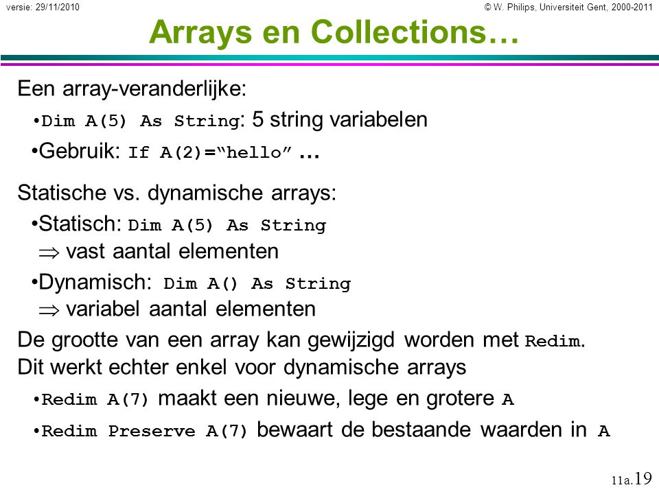Arrays en Collections…
