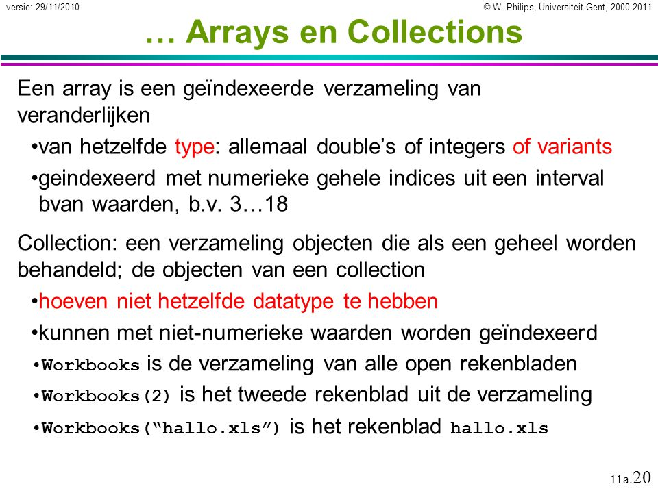 … Arrays en Collections