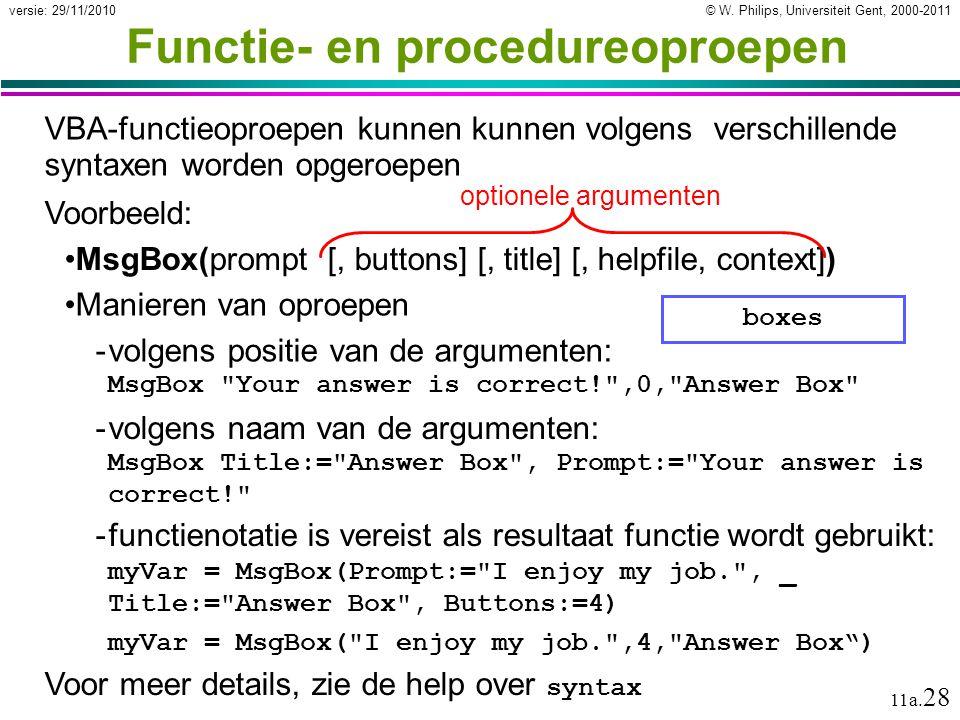 Functie- en procedureoproepen