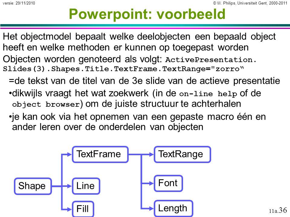 Powerpoint: voorbeeld