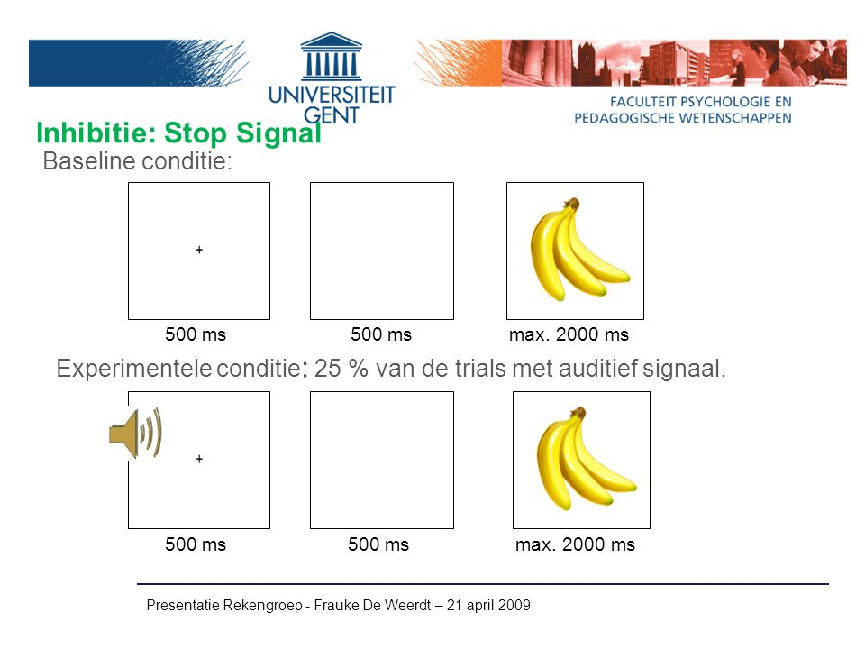 Inhibitie: Stop Signal