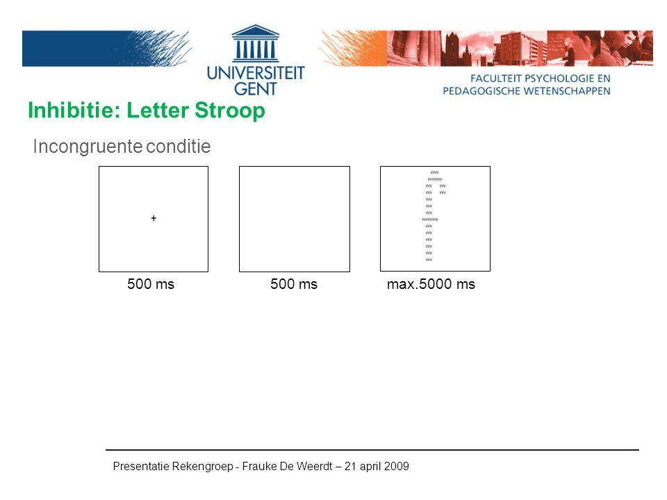 Inhibitie: Letter Stroop