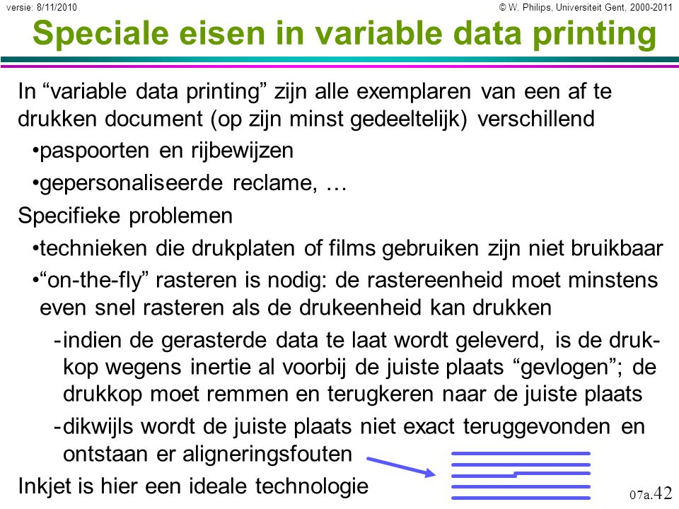 Speciale eisen in variable data printing