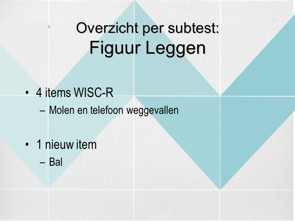 Overzicht per subtest: Figuur Leggen
