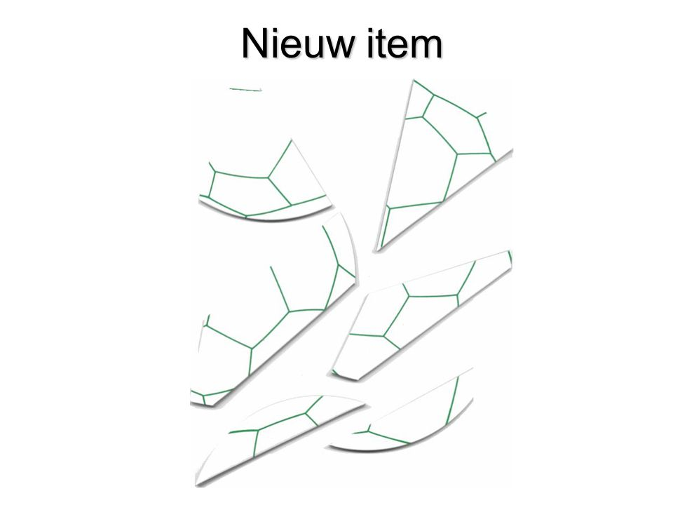Nieuw item