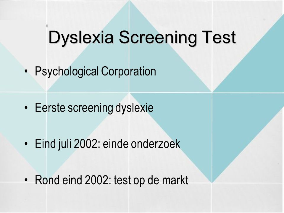 Dyslexia Screening Test