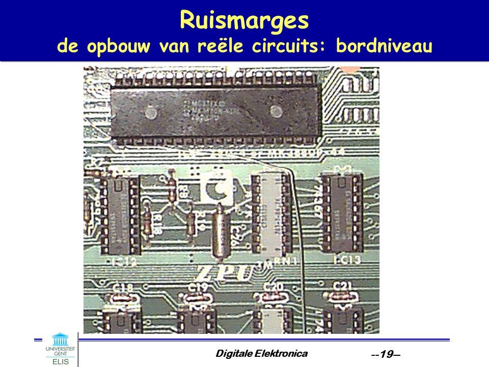 Ruismarges de opbouw van reële circuits: bordniveau