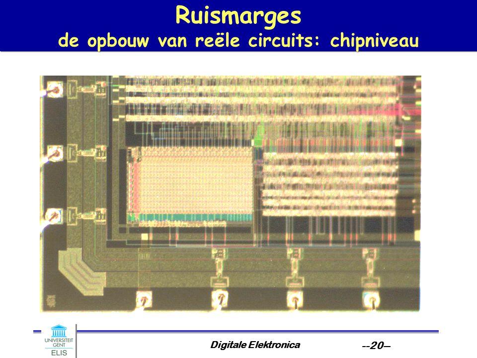 Ruismarges de opbouw van reële circuits: chipniveau