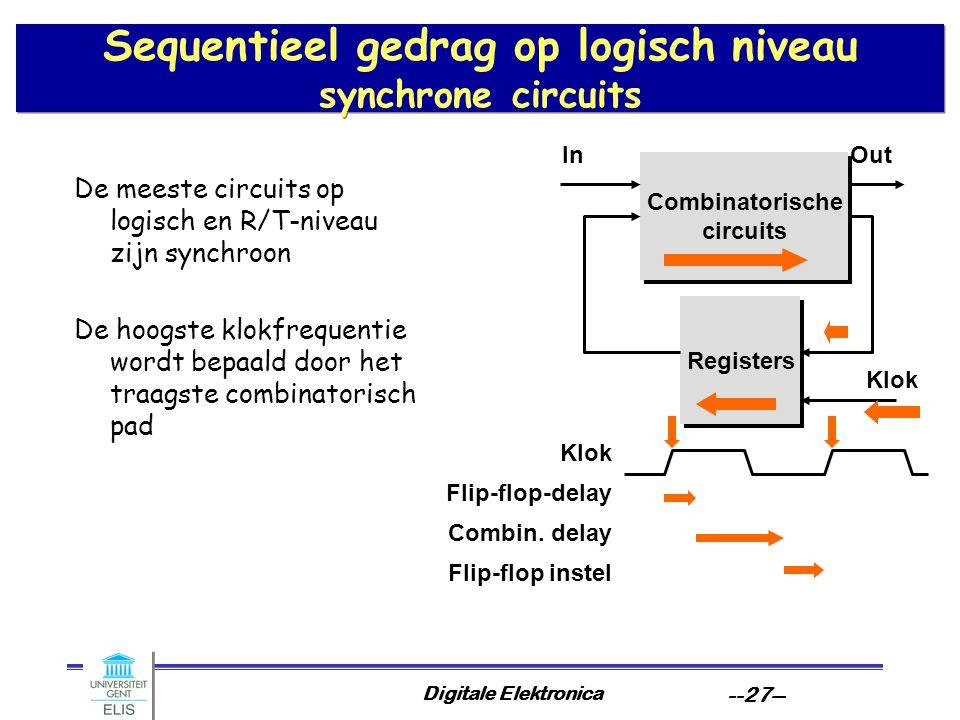 Sequentieel gedrag op logisch niveau synchrone circuits