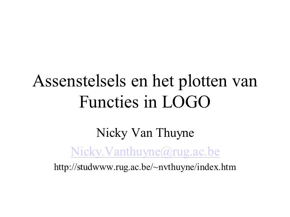 Assenstelsels en het plotten van Functies in LOGO