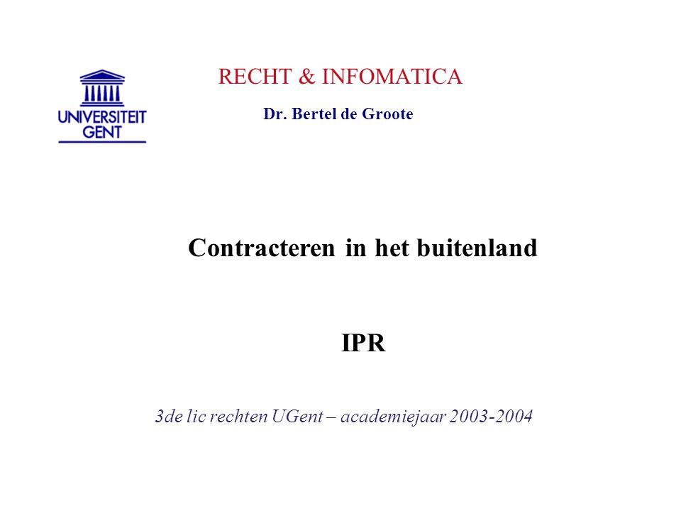 Contracteren in het buitenland