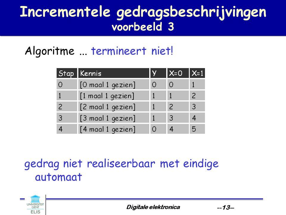 Incrementele gedragsbeschrijvingen voorbeeld 3